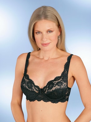 Sassa Bügel-BH - weiß + schwarz