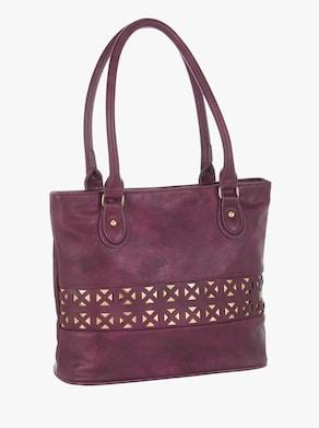 Handtasche - bordeaux-gemustert