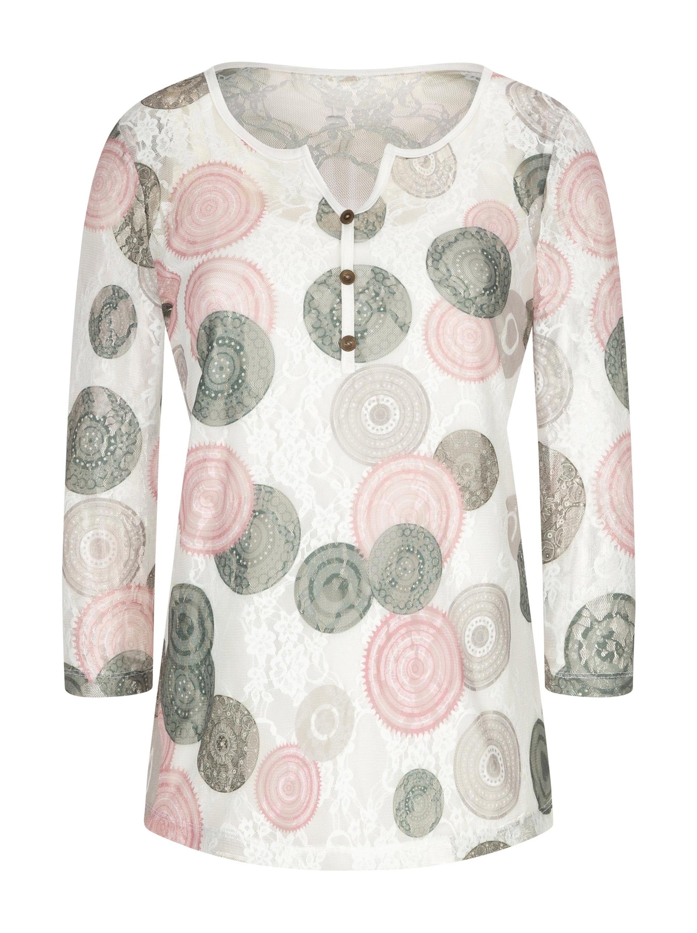 witt weiden - Damen Shirt + Shirttop rosenquarz-khaki-bedruckt