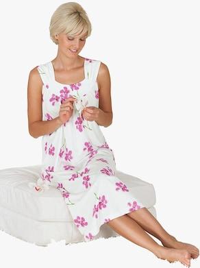 Nachthemd - ecru-rosé