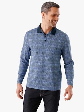 Poloshirt - blauw geprint