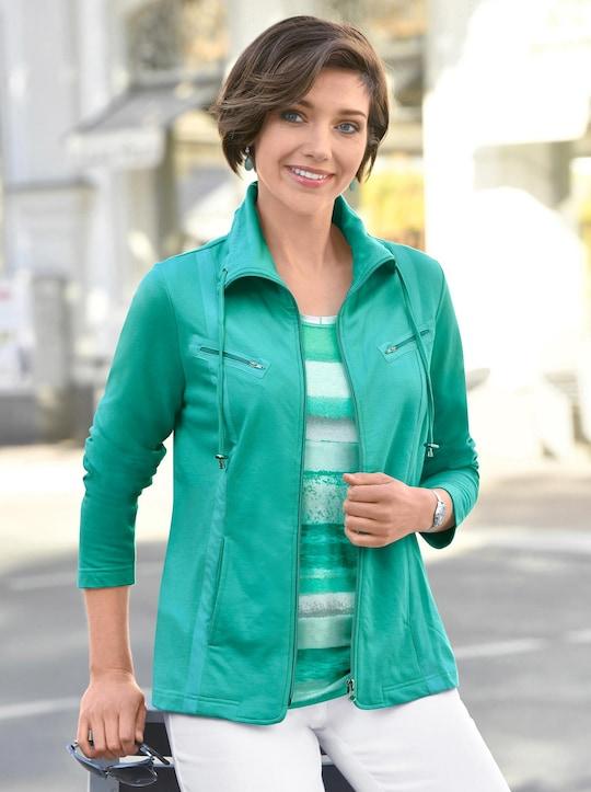 Collection L Shirtjacke - smaragdgrün