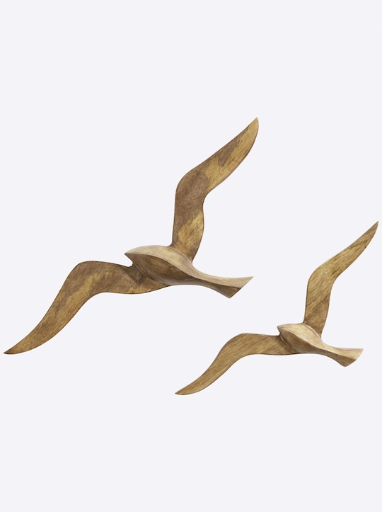 heine home Wanddeko Vögel 2er-Set - braun