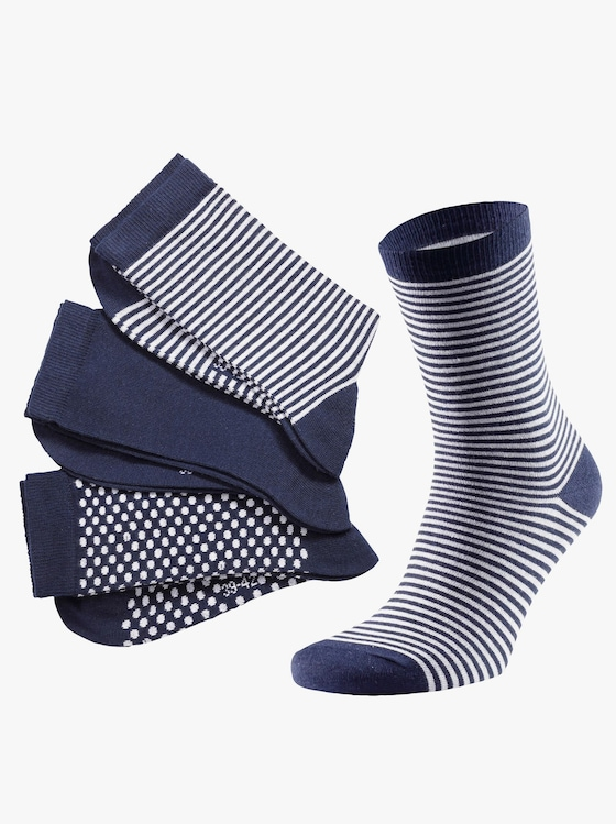 wäschepur Dámske ponožky - námornícka modrá