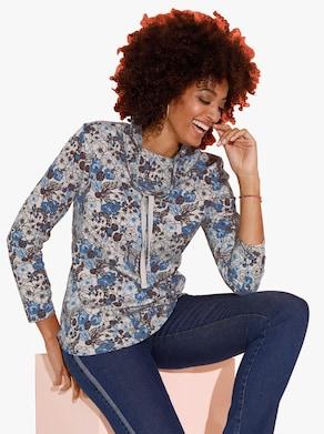 Sweatshirt - korenbloem gedessineerd