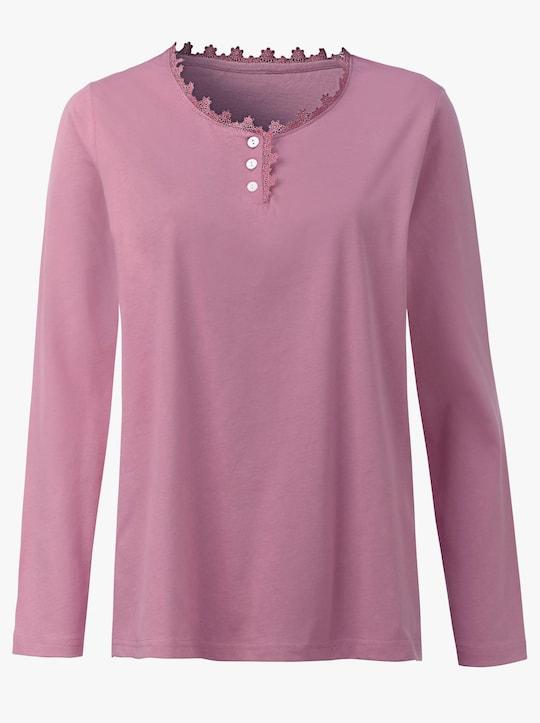 wäschepur Schlafanzug-Shirt - rosé