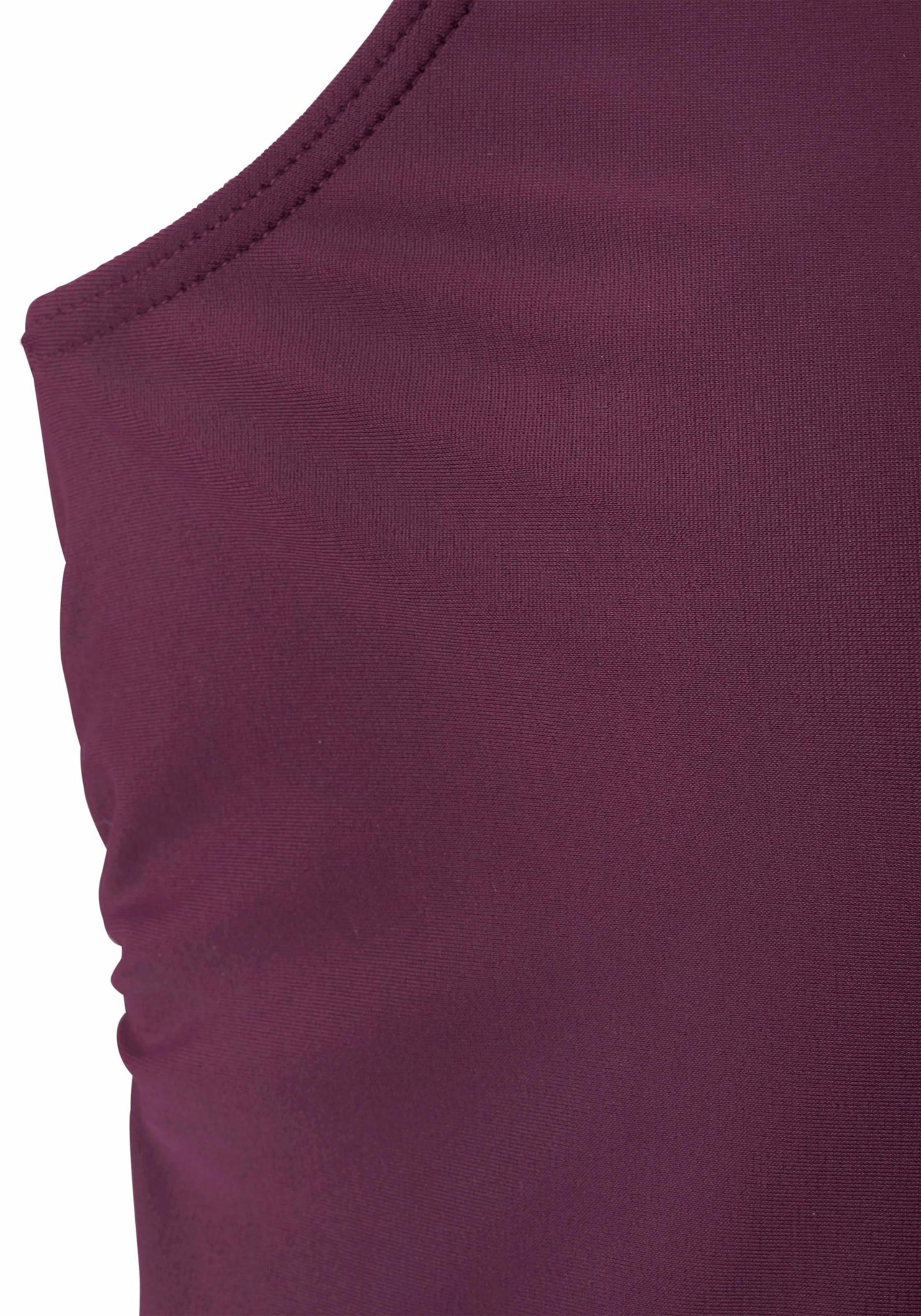 lascana - Witt Weiden Damen Bade-Shirt bordeaux