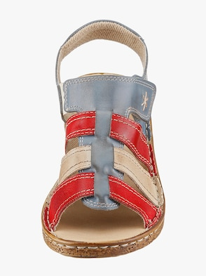 Sandale - blau-rot
