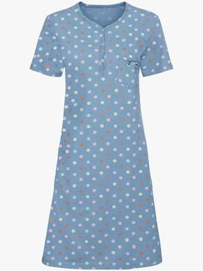 Nachthemden - weiß + bleu
