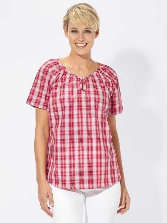 Collection L Bluse - rot-kariert