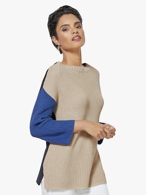 Pullover - sand-blau