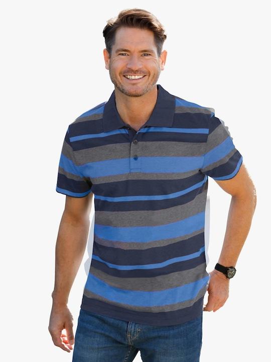 Poloshirt - marine-gestreift