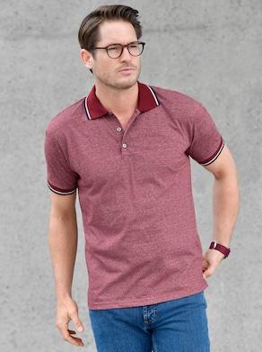 Kurzarm-Shirt - rot-meliert