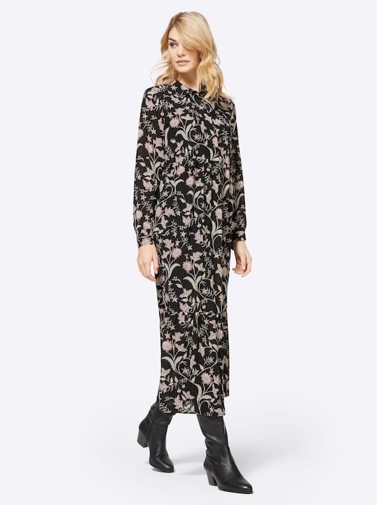 Linea Tesini Druck-Kleid - schwarz-bedruckt