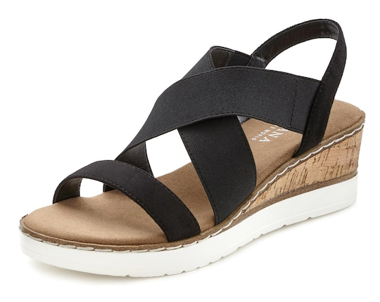 LASCANA Sandalette - schwarz