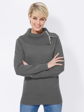 Collection L Pullover - grau-meliert