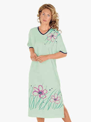 Nachthemd - mint geprint