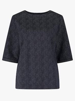 Shirt - marine-gemustert