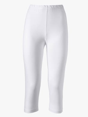 Capri-Leggings - weiß