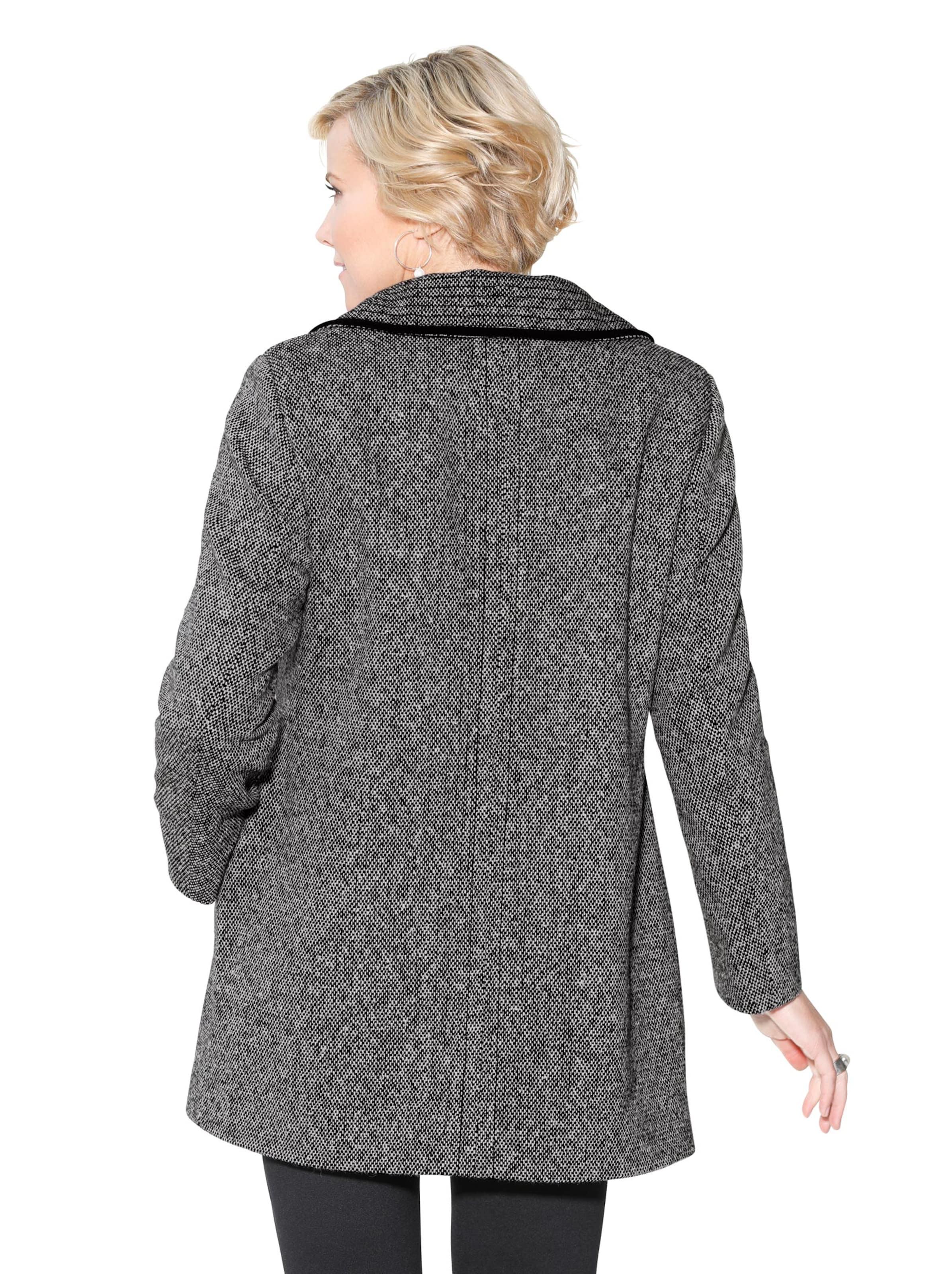 witt weiden -  Damen Jacke schwarz-weiß-meliert