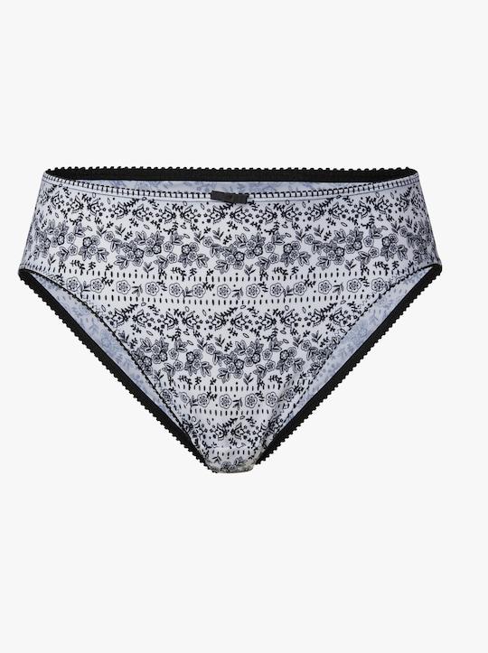 wäschepur Jazzpants - zwart/wit gedessineerd