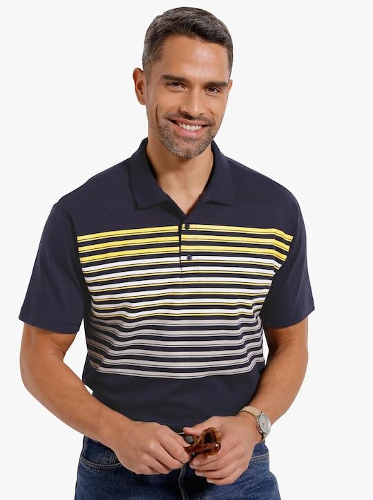 Poloshirt - marine-gelb