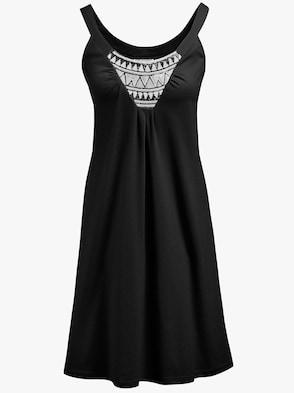 Saraboni Sommerkleid - schwarz