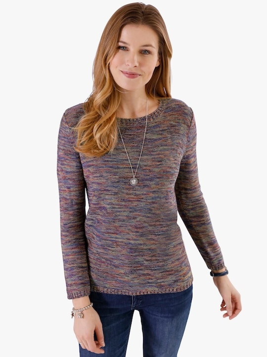 Pullover - framboos gedessineerd