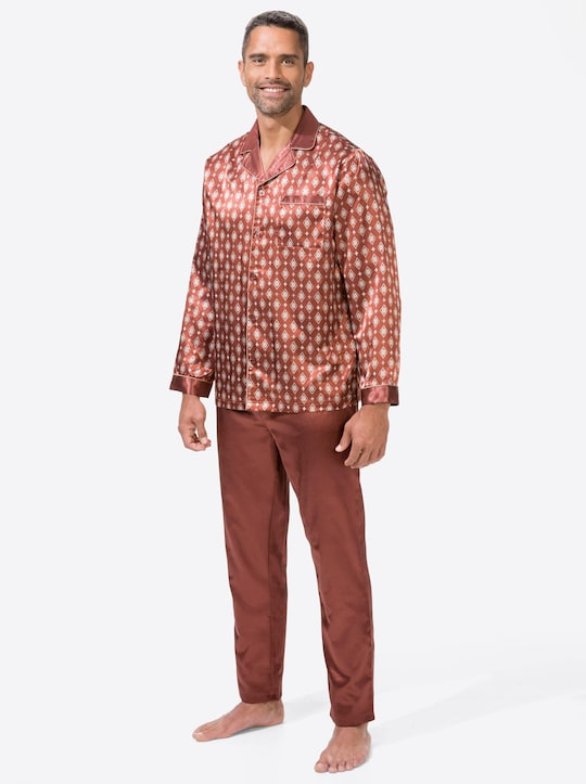 KINGsCLUB Pyjama - zimt-bedruckt