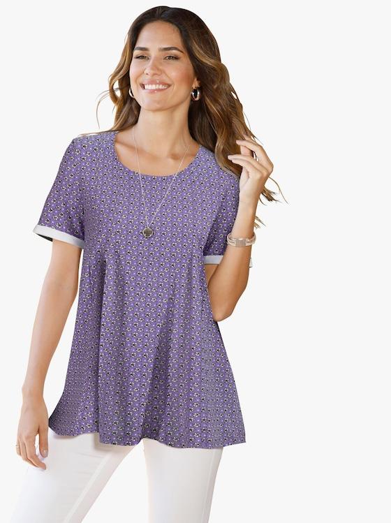 Shirt - lavendel gedessineerd