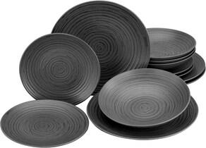 Leonique Tafelservice - schwarz-grau