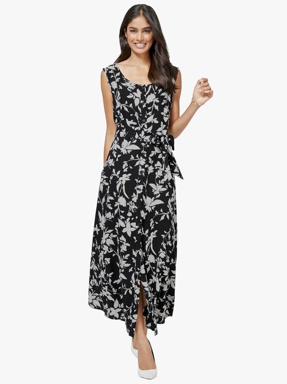 Kleid - schwarz-weiß-bedruckt