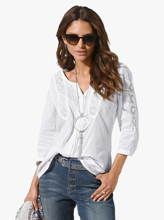 Katoenen blouse - wit