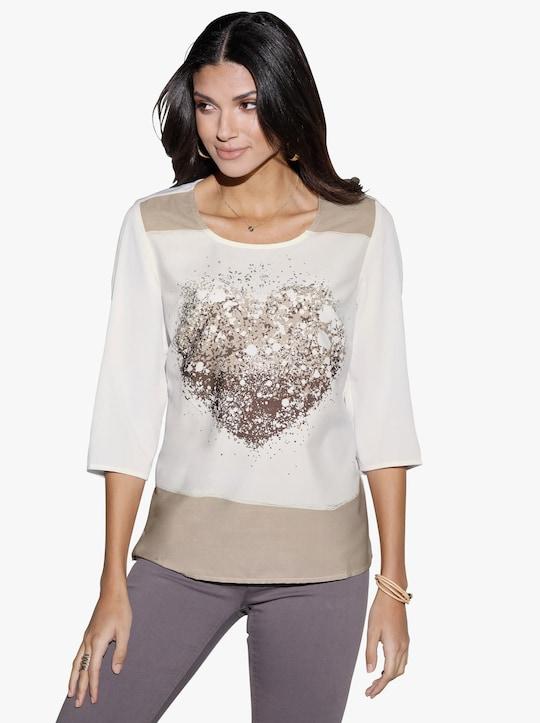 Tričko - sezamová-vzor