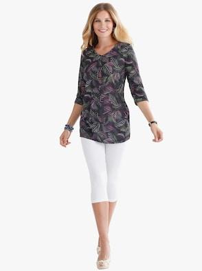 Longshirt - schwarz-bedruckt