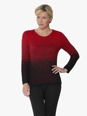 Pullover - kirsche-meliert