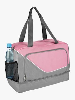 Sporttasche - grau-rosé