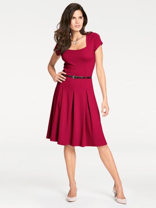 Ashley Brooke Jersey-Kleid - rot