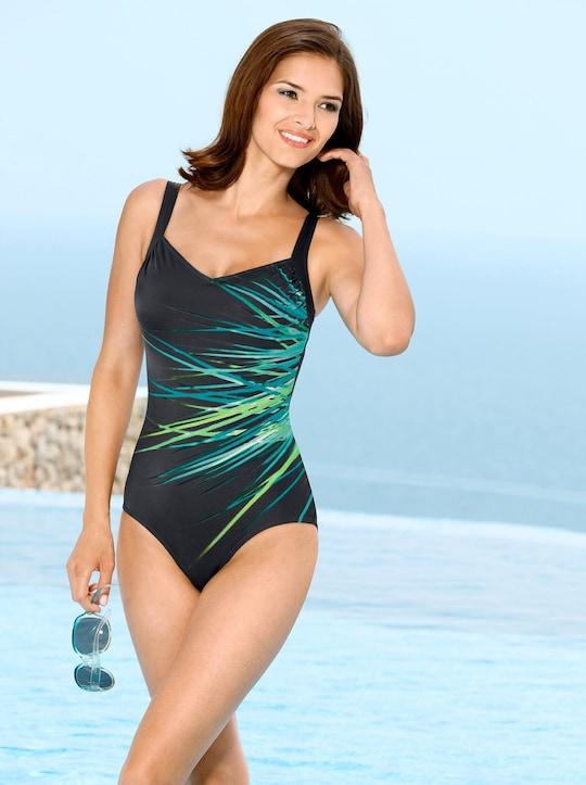 feel good Badeanzug - schwarz-smaragd