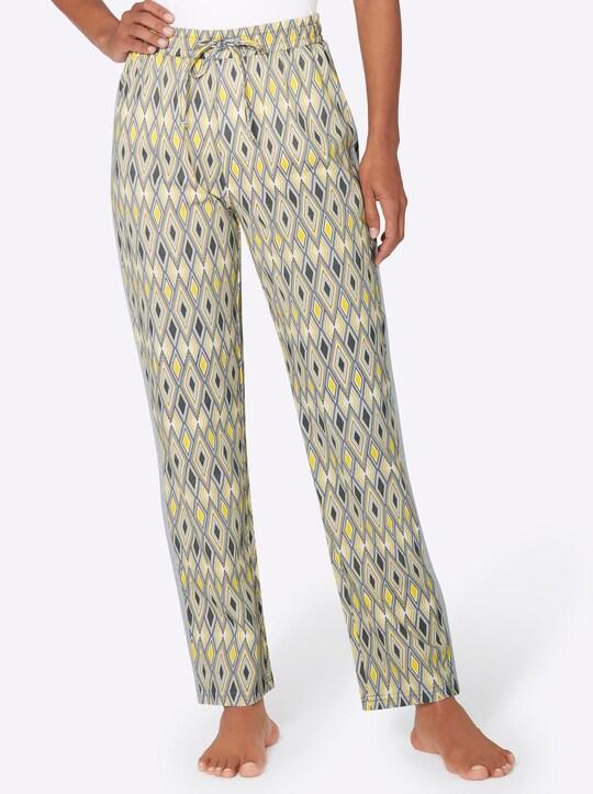 wäschepur Schlafanzug-Hose - silbergrau-gemustert