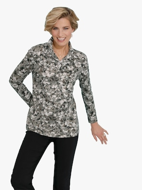 Poloshirt - winterturquoise geprint