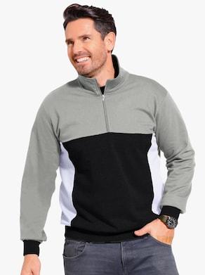 Sweatshirt - grau-schwarz