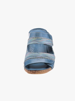 Gemini Pantolette - jeansblau-gestreift