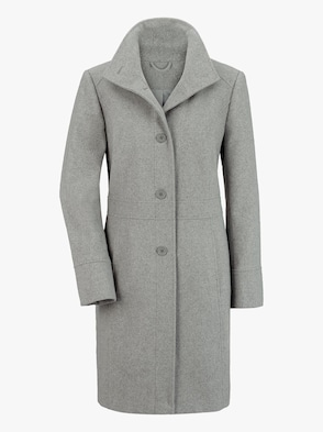 Mantel - grau-meliert
