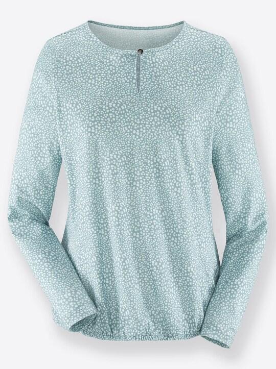 Shirt - winterturquoise geprint
