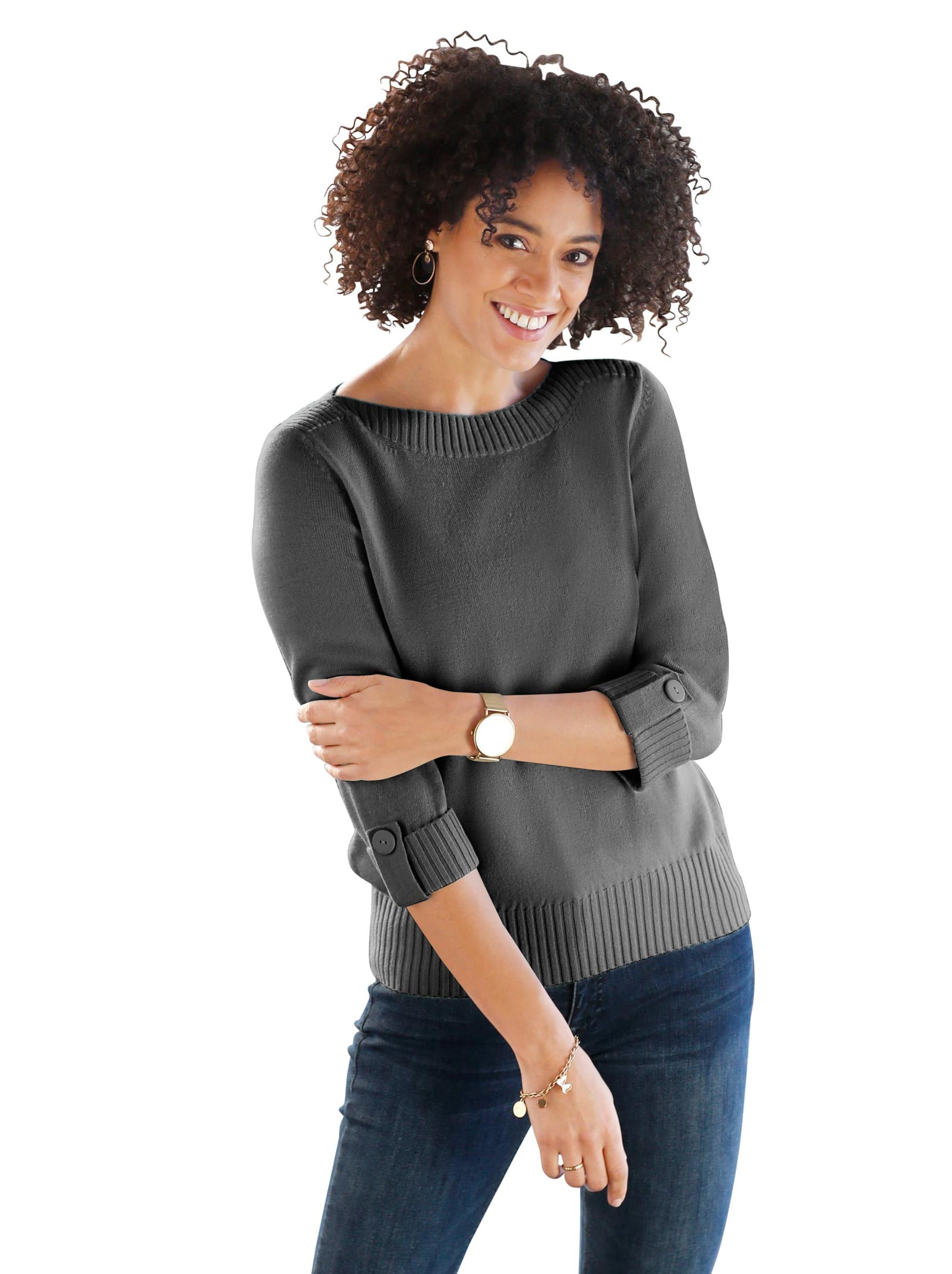 witt weiden -  Damen Pullover anthrazit-meliert