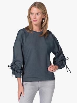 Shirt - marine-meliert