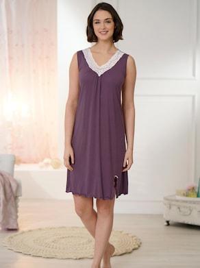 wäschepur Nachthemd - aubergine