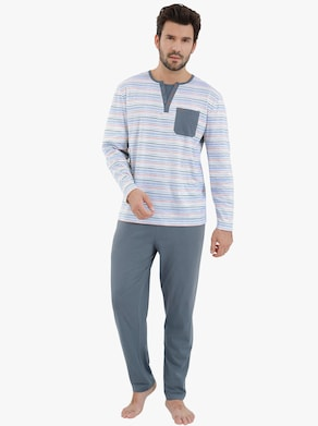wäschepur Pyjama's - antraciet + marine