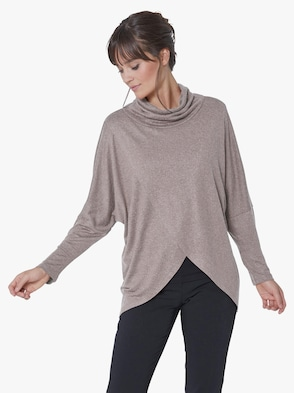 Strickshirt - taupe-meliert